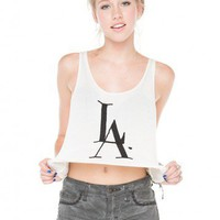 Brandy ♥ Melville |  LA Love Embroidery Tank - Clothing