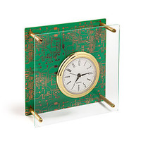 Executive Circuit Board Desk Clock