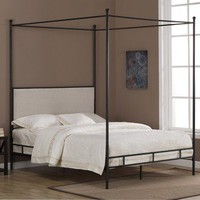 Lauren Upholstered Queen-size Canopy Bed | Overstock.com
