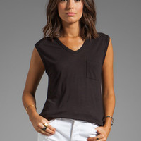 T by Alexander Wang Muscle Tee in Black from REVOLVEclothing.com