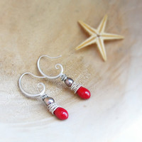 The Red Sea - Coral Earrings