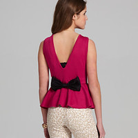 Catch My i Bow-Back Peplum Top 					 					 				 			 | Dillard's Mobile