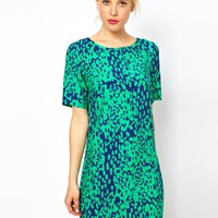 ASOS Shift Dress In Animal Print at asos.com