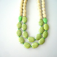 chunky Green necklace