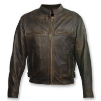 Milwaukee Motorcycle Clothing Company Men's Crazy Horse Jacket (Distressed Black, Large):Amazon:Automotive