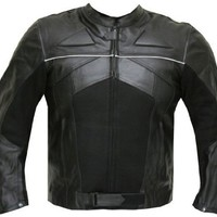 RAZER MENS MOTORCYCLE LEATHER JACKET ARMOR Black L:Amazon:Automotive