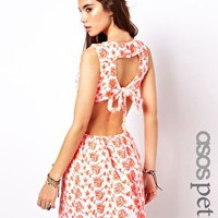 ASOS PETITE Exclusive Skater Dress With Tie Back at asos.com