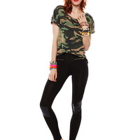 Papaya Clothing Online :: STUDDED CAMOUFLAGE TEE