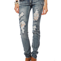 Papaya Clothing Online :: WASHED DESTROYED JEANS