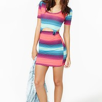Bundy Cutout Dress - Stripe