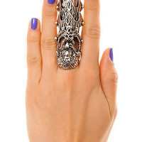 Mod4rn Trend Ring Eagle Skull Claw in Silver