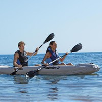 2-Person Inflatable Touring Kayak at Brookstone—Buy Now!