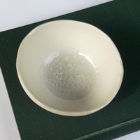 Porcelain Decorative Bowl with Glass and Pearly Rim - Medium - Great Mothers Day Gift