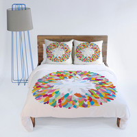DENY Designs Home Accessories | Sharon Turner Fizzy Feathers Duvet Cover