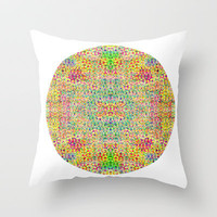 Mesh Circle Throw Pillow by Glanoramay