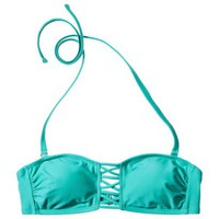 Xhilaration® Junior's Bandeau Swim Top -Teal
