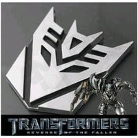 "4.5"" Decepticon Chrome 3D Emblem"
