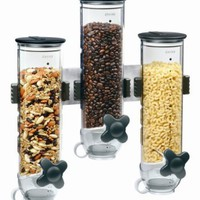 Zevro WM300 Indispensable SmartSpace Wall Mount Triple Dry-Food Dispenser:Amazon:Kitchen & Dining