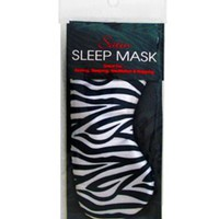 Swissco Satin Sleep Mask Zebra Print:Amazon:Beauty