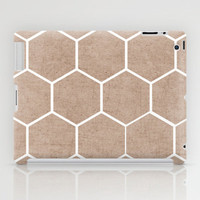 natural hexagon iPad Case by her art