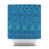 Beach Blanket Confusion Shower Curtain by Catherine Holcombe