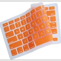 Silicone Keyboard Cover for MacBook apple mac 13-15 inches Orange:Amazon:Computers & Accessories