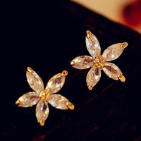 Lady Daisy Rhinestone Fashion Earrings | LilyFair Jewelry
