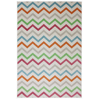 Indoor/Outdoor Bright Beams Multi Rug (5'3 x 7'6) | Overstock.com