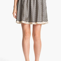 Miss Wu Lace Print Silk Twill Skirt (Nordstrom Exclusive) | Nordstrom