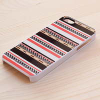 051. iPhone case - Tribal Print - Coral