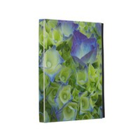 Blue Hydrangea Buds iPad Folio Covers from Zazzle.com