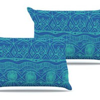 Beach Blanket Confusion Pair of Pillowcases by Catherine Holcombe
