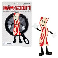 Bendable Mr. Bacon Action Figure - Whimsical & Unique Gift Ideas for the Coolest Gift Givers