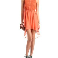 Daisy Lace Hi-Low Shirt Dress: Charlotte Russe