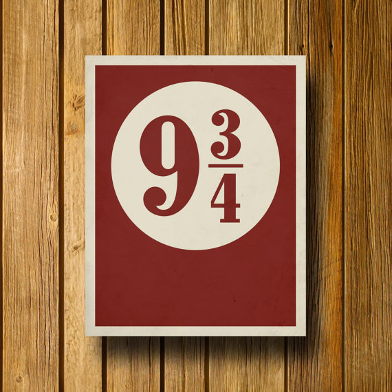 Platform 9 3/4 Harry Potter Inspired 11 x 14 by EntropyTradingCo
