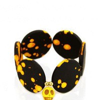 Yellow Skull Angel Circle Bracelet