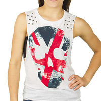 Girls Burnout Muscle 'Skull Jack' Fashion Tank