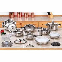 28pc 12-Element Stainless Steel Cookware Set:Amazon:Kitchen & Dining