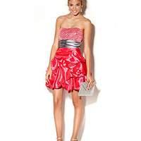 Trixxi Juniors Dress, Strapless Sweetheart Zebra Sequin A Line Ruffled Mini - Juniors Dresses - Macy's