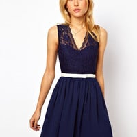 ASOS | ASOS Scalloped Lace Skater Dress at ASOS