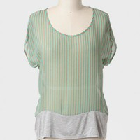 Walk Along Striped Curvy Plus Top at ShopRuche.com
