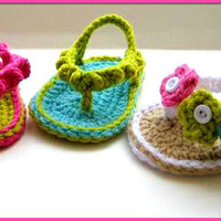Crochet Baby Sandals-girl or boy flip-flops-baby shoes