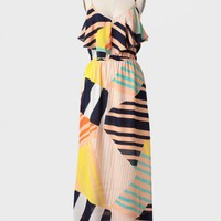 Out Of Town Geometric Print Maxi Dress at ShopRuche.com