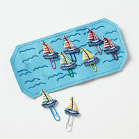 Embroidered Sailboat Paper Clips