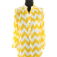 Dapper Date Top in Yellow Ochre