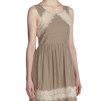 Textured Gauze Dress, Tea