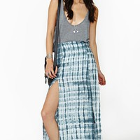 Delirium Maxi Skirt - Gray