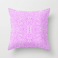 Radate (Lilac) Throw Pillow by Jacqueline Maldonado