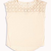 Crocheted Yoke Top | FOREVER21 girls - 2052287774