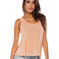 Papaya Clothing Online :: BOW BACK SHEER TOP